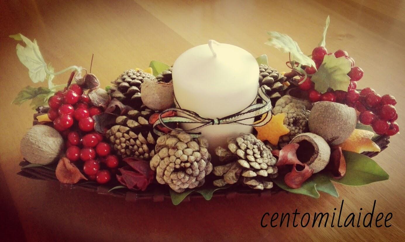 Centomilaidee centro tavola natalizio con le cannucce di - Centro tavola natalizio con pigne ...