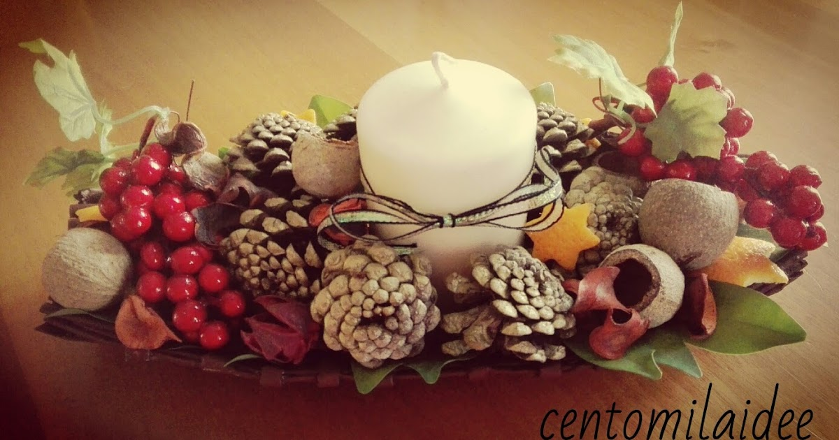 Centomilaidee centro tavola natalizio con le cannucce di carta - Centro tavola natalizio con pigne ...