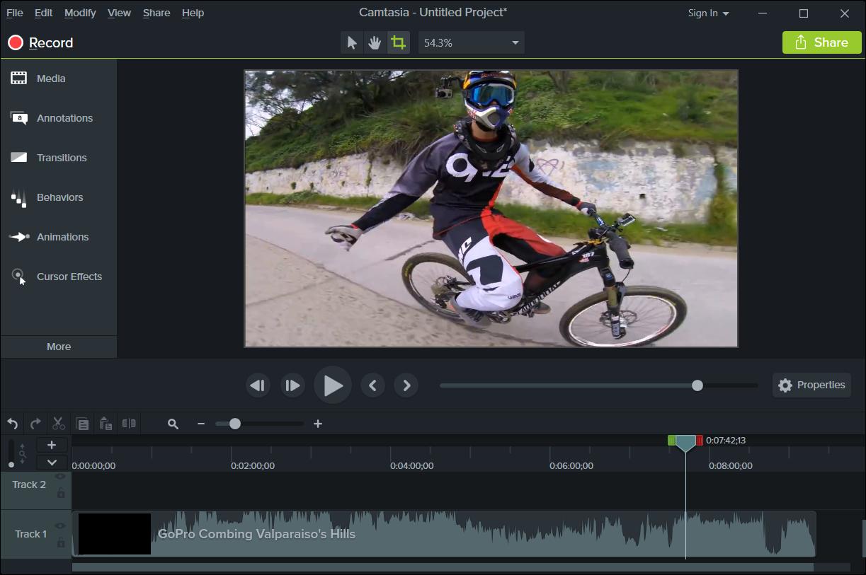 Camtasia Studio 9 edición de vídeo