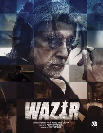 Poster Of Wazir 2016 Hindi 700MB DVDRip ESubs XviD Free Download Watch Online