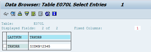 SAP Database Refresh - Noting trkorr field in the table E070L