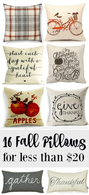 inexpensive fall pillows