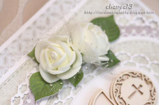 białe tiulowe kwiatki