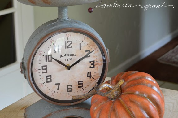 Fall Vignette in a kitchen scale | www.andersonandgrant.com