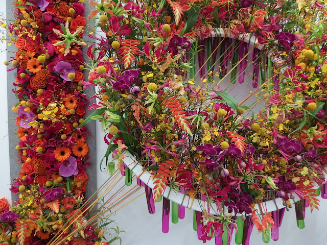 Part of the Interflora exhibit in the Great Pavilion at Chelsea Flower Show