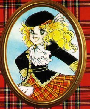 Dibujo de Candy con traje de Escocia