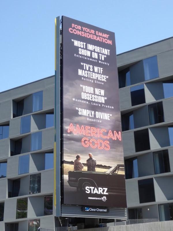 American Gods 2017 Emmy consideration billboard