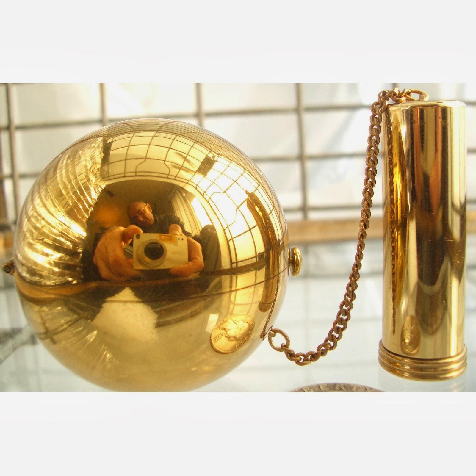 Collectibles Vintage Antique Vintage Compact Brass Sphere