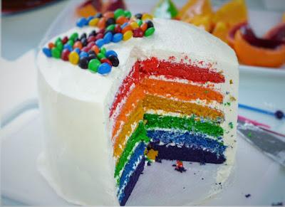 Resep Rainbow Cake Kue Pelangi Martha Stewart
