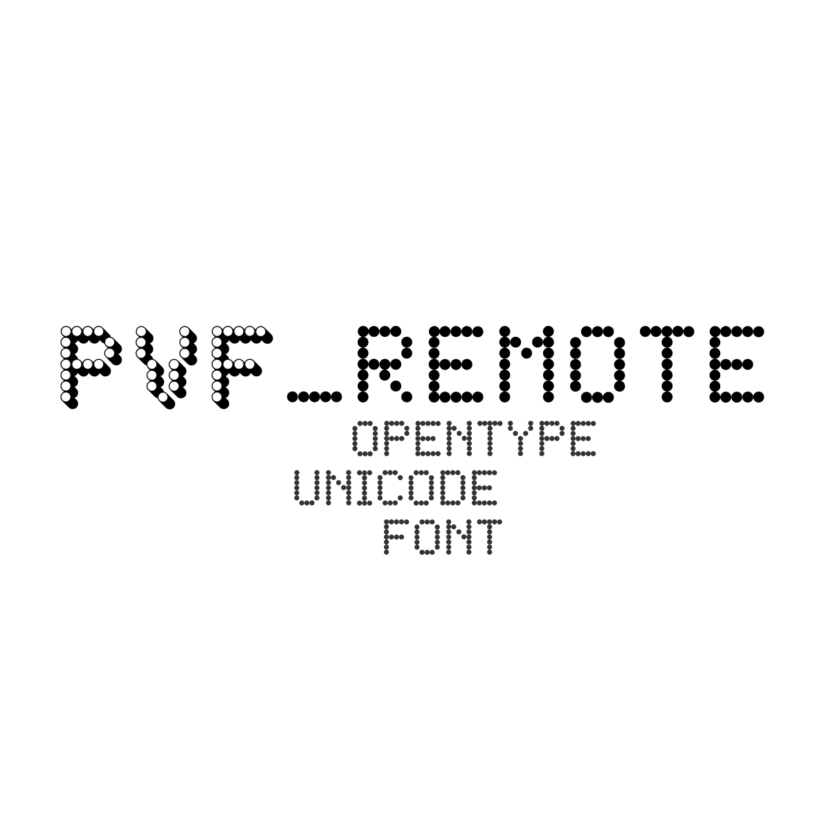 PVF_Remote #Free Display Dotted #OTF #Typeface