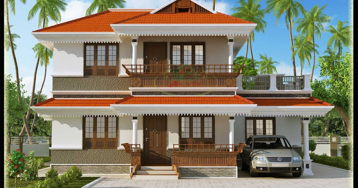 Beautiful Kerala Style 2 Storey House 2172 Sq Ft Plan