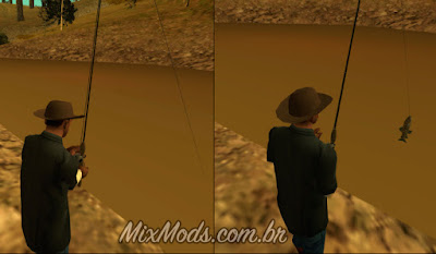 mod cleo de pescaria pescar peixes para gta sa pescando