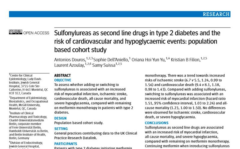 El tratamiento con sulfonilurea de la diabetes mellitus tipo 2 se centra en la glimepirida