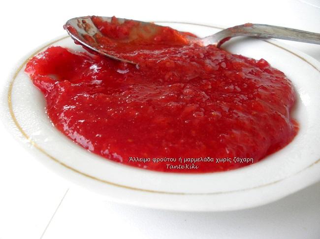 Φραουλένιο άλειμμα χωρίς ζάχαρη