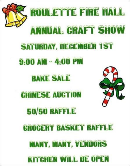 12-1 Annual Craft Show, Roulette VFD