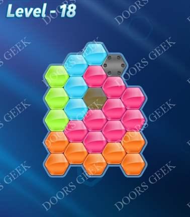 Block! Hexa Puzzle [5 Mania] Level 18 Solution, Cheats, Walkthrough for android, iphone, ipad, ipod