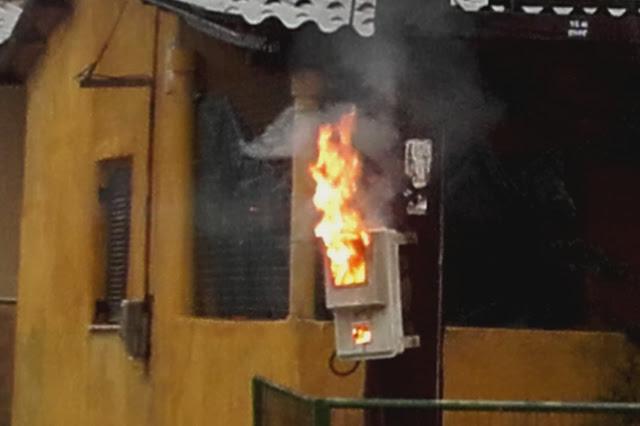Πυρκαγιά σε ρολόι της ΔΕΗ σε οικία στο Βιβάρι