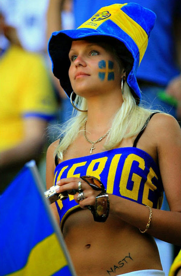 Necessary words... swedish soccer fans topless for that