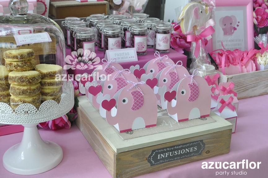 Elefantes Rosas Baby Shower Isabel Azucar Flor Party Studio