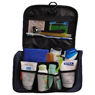 Bag with a lot of toiletry