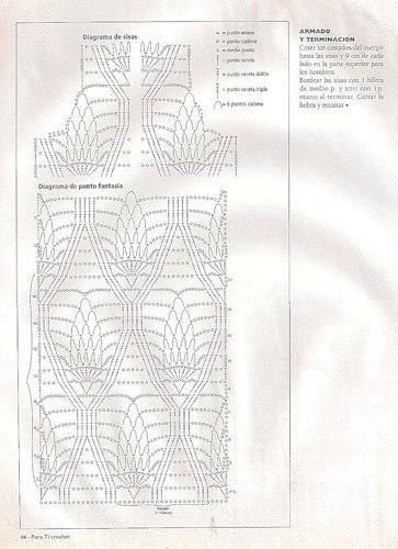 Tunica de crochet super calada