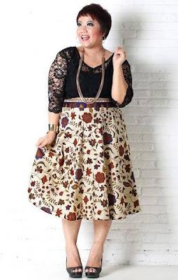 model baju batik wanita gemuk terbaru