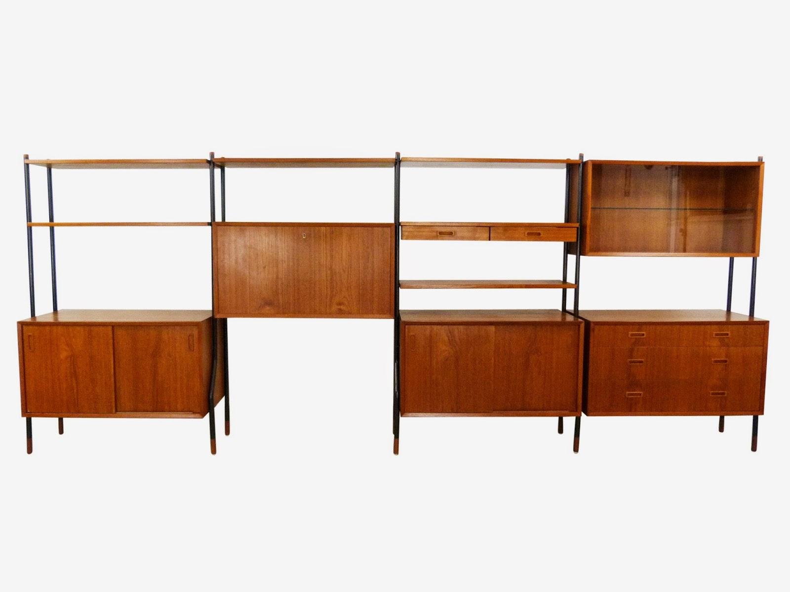 Lyby Mobler Danish Modern Vintage Teak Wall Unit / Room Divider