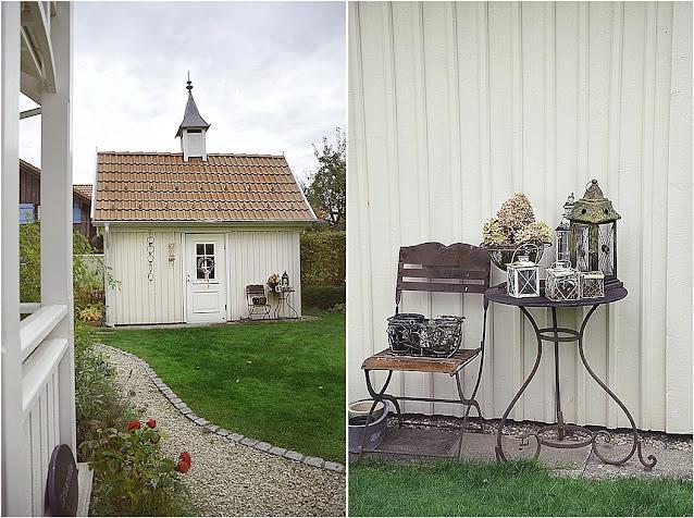 Gartenhaus aus weißem Holz