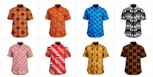 Baju Seragam Guru Batik Kerja Modern Pria