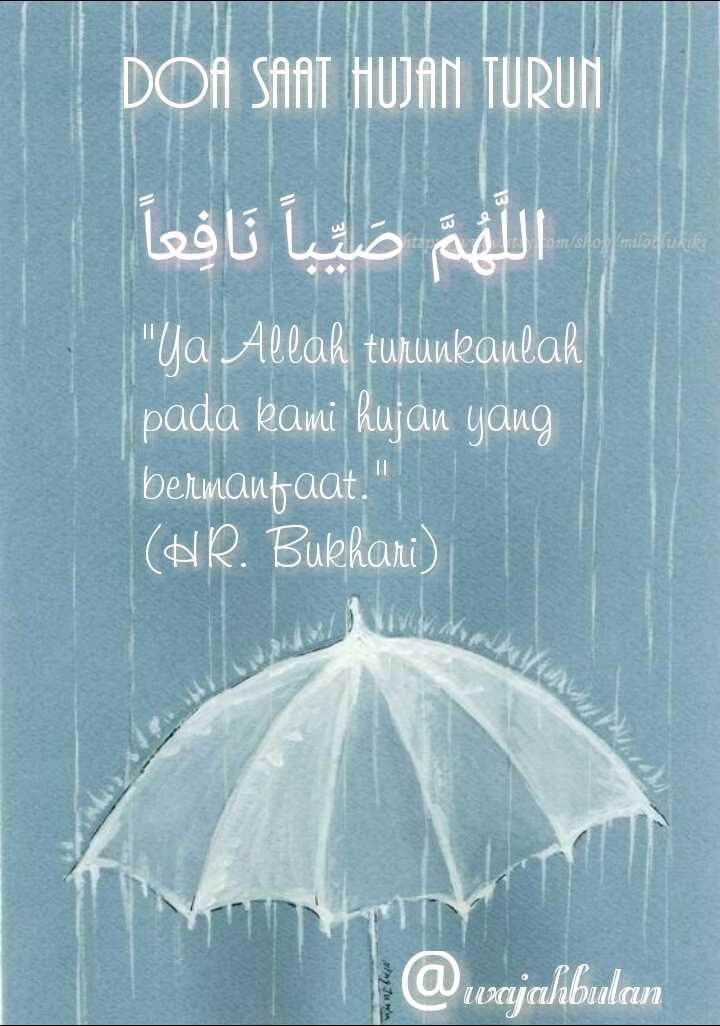 Doa Hujan Angin : hujan, angin, Hujan, Pertama