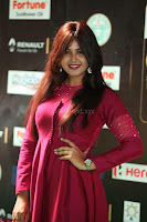 Monal Gajjar in Maroon Gown Stunning Cute Beauty at IIFA Utsavam Awards 2017 055.JPG