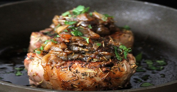 Pork Chops With Onions Orange Marmalade Recipe