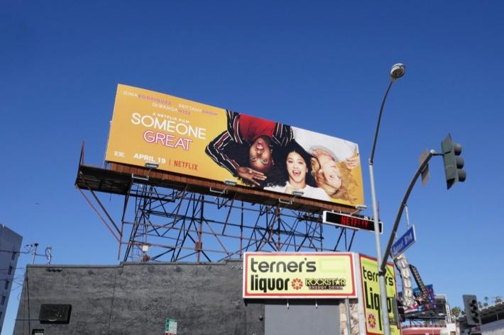 Someone Great movie billboard