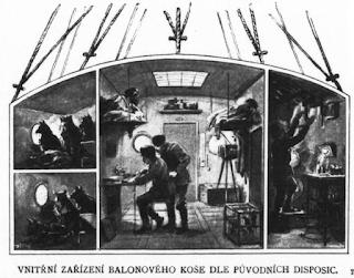 Údajný původní návrh balonového koše Andréeovy výpravy