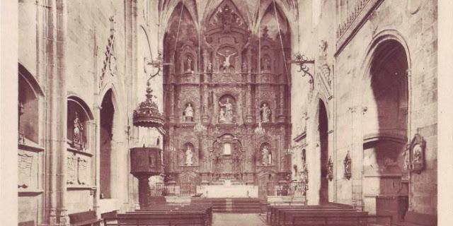Cáceres interior iglesia san Mateo