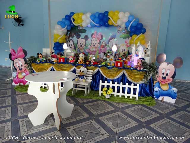 Decoração tema Baby Disney para festa de aniversário infantil
