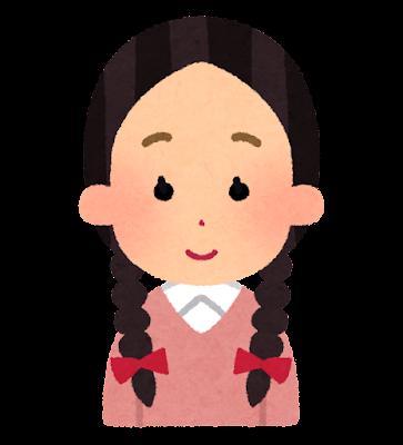三つ編みのイラスト