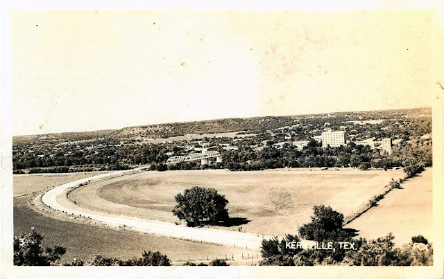 Kerrville, approaching on State Highway 16, from south of the Guadalupe River
