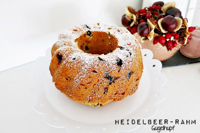 Heidelbeer-Rahm Gugelhupf