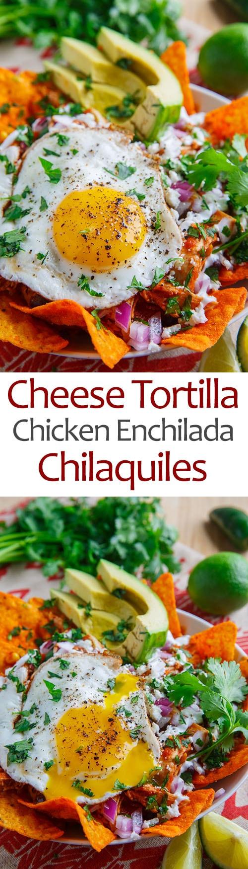Cheese Tortilla Chip Chicken Enchilada Chilaquiles