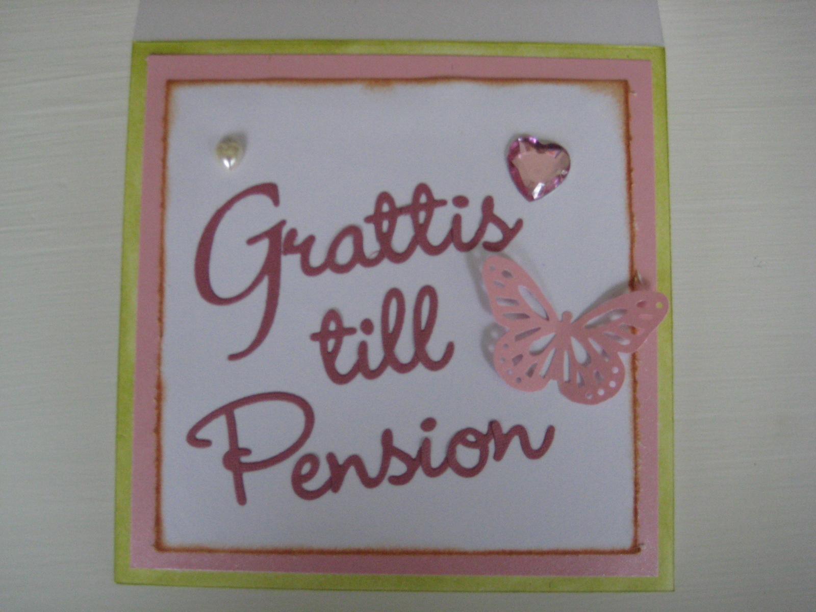 grattis till pension Pysselsandra: Grattis till pension mamma! grattis till pension