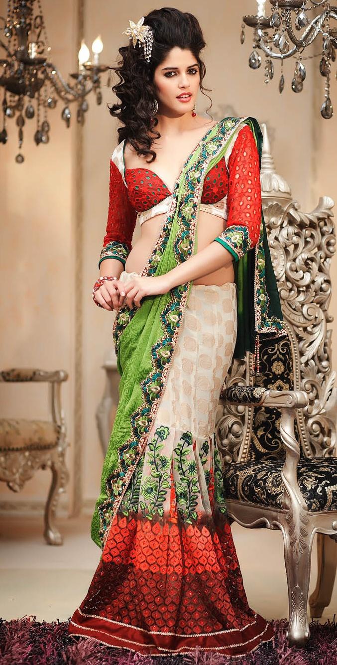 Saree bridal how to wear new photo