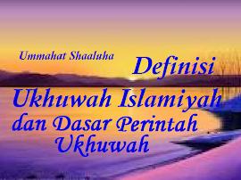 Tuntunan Islam dalam Ukhuwah Islamiyah