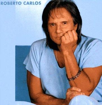 Foto de Roberto Carlos en portada de disco