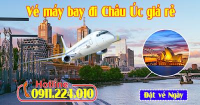 Mua vé máy bay đi Châu Úc giá rẻ chính hãng