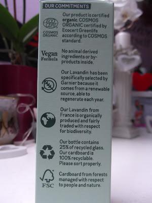 Garnier Bio Lavandin pleťový olej popis