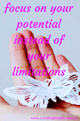 Wind-Back Wednesday ~ Focus on Your Potential - not your limitations