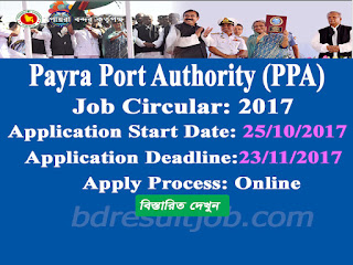 Payra Port Authority (PPA) job circular 2017