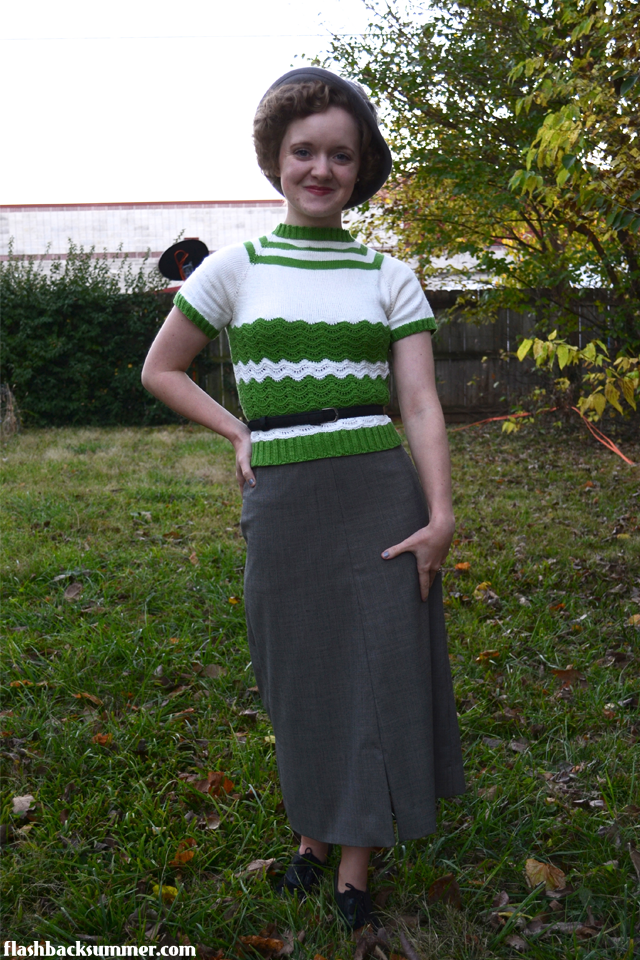 Flashback Summer: 1930s Art Deco Sweater - vintage knitting