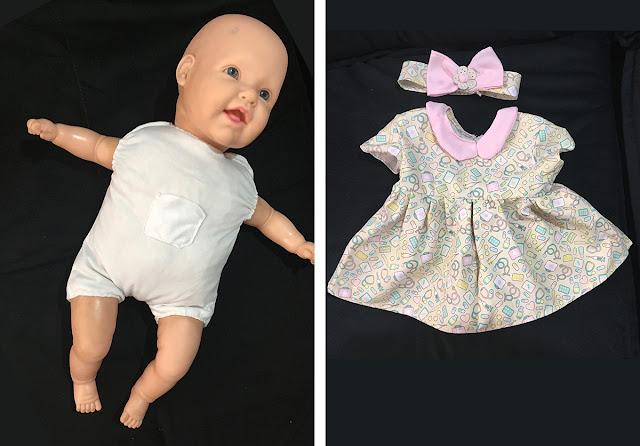 boneca bebê dodói com vestido novo